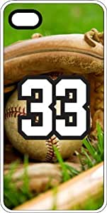 Baseball Sports Fan Player Number 33 Clear Rubber Decorative iPhone 5/5s Case