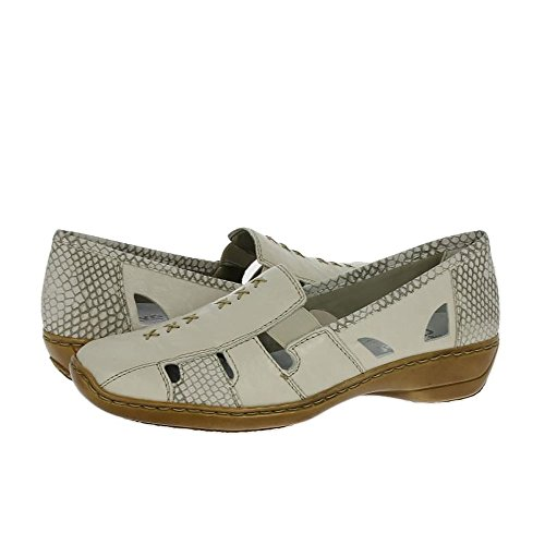 Rieker Damen 41385-62 Slipper Beige (62)