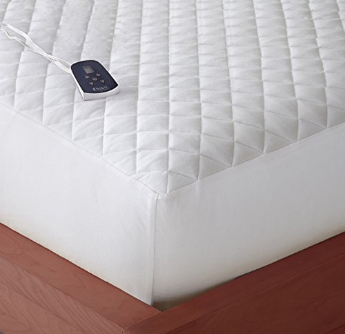 Thermee Micro Flannal Electric Mattress Pad, Full, White
