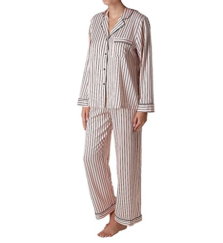 In Bloom by Jonquil Sophia Satin Stripe Pajama Set (SOI145) S/Blush Foulard