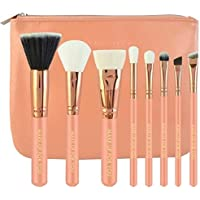 Professional Make-Up For You Peach Pink Makeup Brush 8pcs Set with Pouch