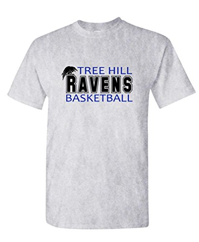 (Tree Hill Ravens Football tv Show one - Mens Cotton T-Shirt, M, Ash)