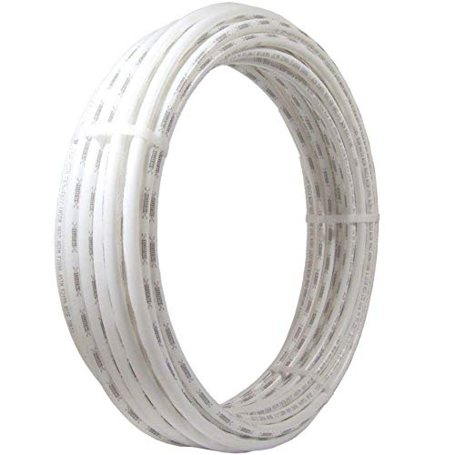 SharkBite, White, PEX Pipe 1/2 Inch, Flexible Tube, Potable Water, Push-to-Connect Plumbing Fittings, U860W100, 100 Foot Coil