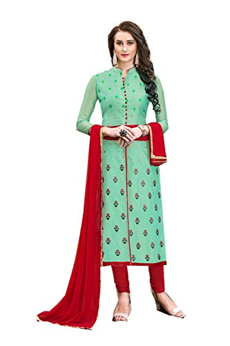 PinkCityCreations Indian Women Designer Partywear Ethnic Traditonal Light Green Anarkali Salwar Kameez by PinkCityCreations