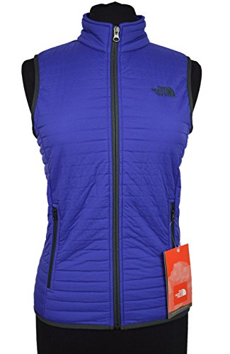 The North Face Sleeveless Vest (The North Face Women's Polartec Fur Quilted Fabbow Vest Ultramarine Blue Small)