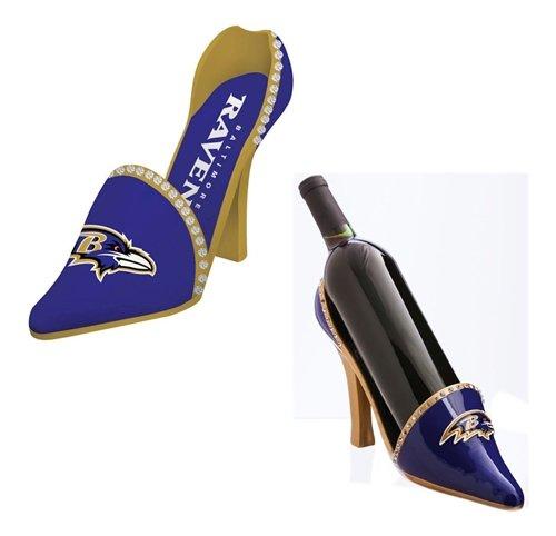 Baltimore Ravens Decorative Wine Bottle Holder - Shoe by Hall of Fame Memorabilia