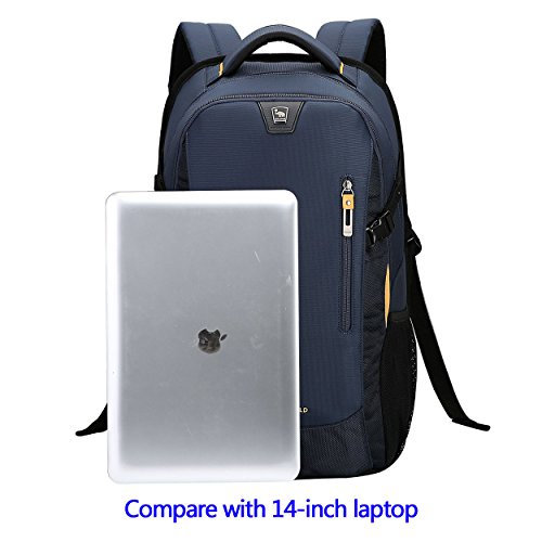 Blue Backpack Computer Under Resistant Theft Business Laptop School Anti inch 14 Bags Black Travel Fits Backpack Water OIWAS 4BPTqxwZ5