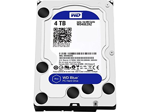 Pc Internal Hard Disk (WD Blue 4TB Desktop Hard Disk Drive - SATA 6 Gb/s 64MB Cache 3.5 Inch - WD40EZRZ)