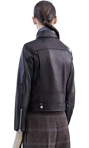 Autunno Da Motociclista Cerniera Faux Inverno Nero Giacca Moda E Pelle Cappotto Chiusura In 1 Risvolto Basculante Con Donna Giacche Cappotti WqaSAI