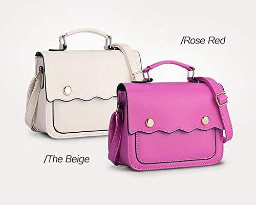 Bandolera Handbahs Bolso Hombro Púrpura Para Yisaesa De Mujer Rose color xfPn51