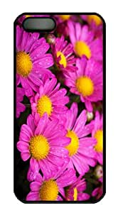 case mate cover wet yellow pink flowers PC Black Case for iphone 5/5S