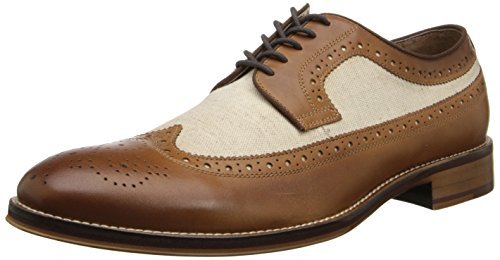Johnston & Murphy Mænds Conard Vingespids Oxford Tan Kalv / Beige Linned ssF4Xvq