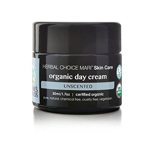 Herbal Choice Mari Organic Day Cream, Unscented; 1.7floz (Organics Herbal Moisturizer)