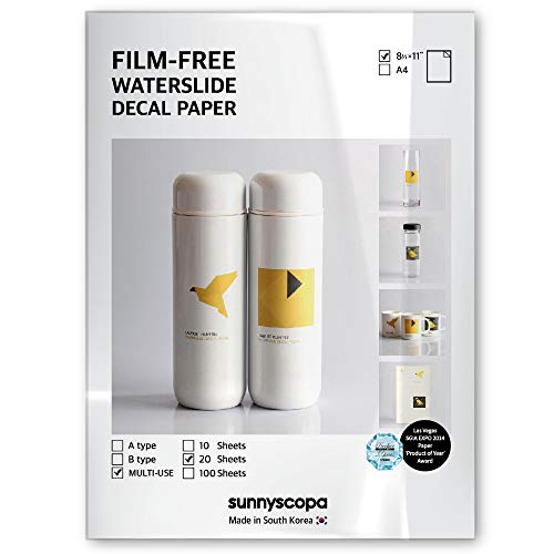 Sunnyscopa Film-Free Decal Paper for LASER printer