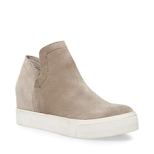 Steve Madden Women's Wrangle Sneaker, Taupe Suede, 8 M US (Steve Madden Ankle Wedges)