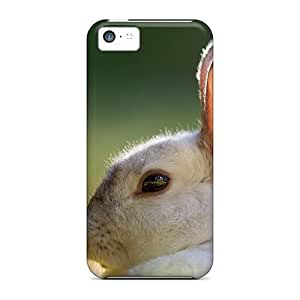 Tony Diy 5c Scratch-proof protective case cover For Iphone/ Hot Cute ytYEhaqyyVu White Rabbit cell phone case cover