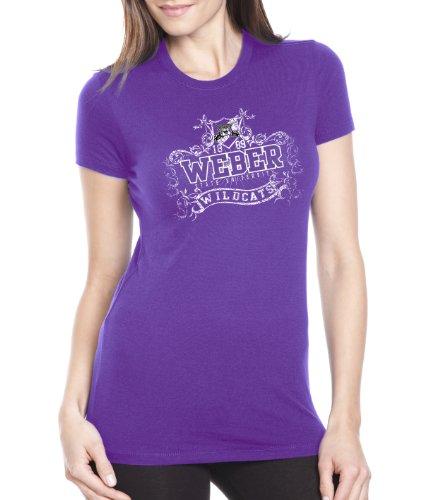 NCAA Weber State Wildcats Women's Prius2 Long Body Classic T-Shirt (Purple Rush, - Football State Weber