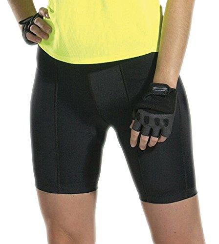 Plus Womens Top Shelf Padded Bike Short Black 5XL