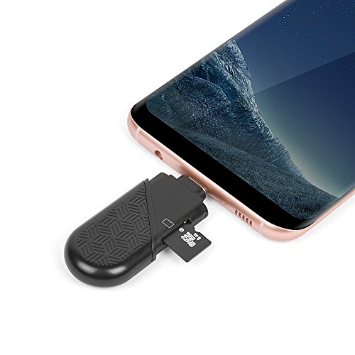 UNITEK Dual Option USB-C Type C (USB 3.1 Gen 1) & USB-A Type A (USB 3.0) Micro SD/SDHC/SDXC Card Reader Adapter, Supports Samsung S8, New MacBook, 2016 MacBook Pro, Chromebook Pixel-Black by Unitek (Image #6)'