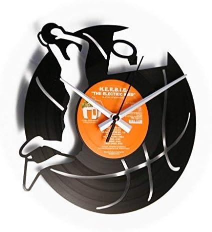 Baloncesto: Reloj de pared con disco de vinilo – idea regalo Disco ...