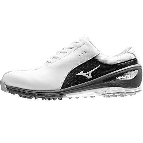Ladies 2017 Mizuno NEXLITE SL Ultra-Light Spikeless Womens Golf Shoes - Waterproof - White/Black 10.5UK by Mizuno