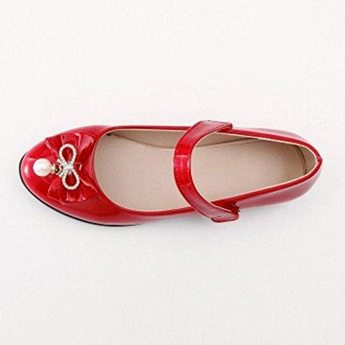 Coolcept Zapatos de Tacon Bajo Para Mujer Red