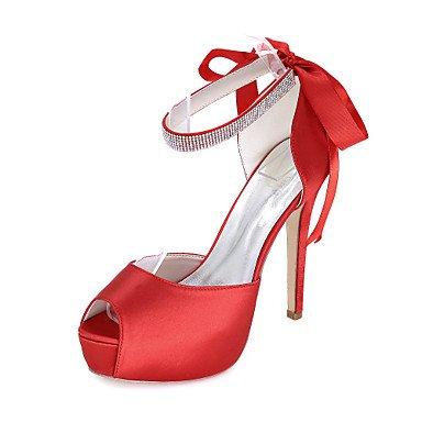 Evening UK4 EU36 Wedding amp;Amp; Toe Party Spring CN36 US6 Sandals Summer Satin Peep Sandals Fall Women'S Awfqa