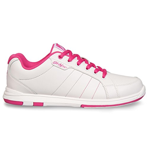 KR Strikeforce Ladies Satin Bowling Shoes- White/Hot Pink 6 M US aXbjh3K3I2