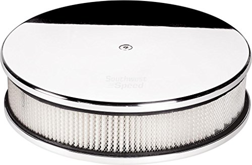"NEW BILLET SPECIALTIES POLISHED ALUMINUM, MEDIUM ROUND AIR CLEANER ASSEMBLY, 10"" DIAMETER X 3"" TALL"
