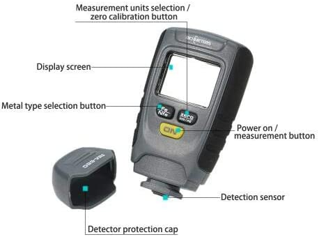 LCD Digital Auto Car Paint Coating Thickness Tester Measuring Gauge Meter RM660