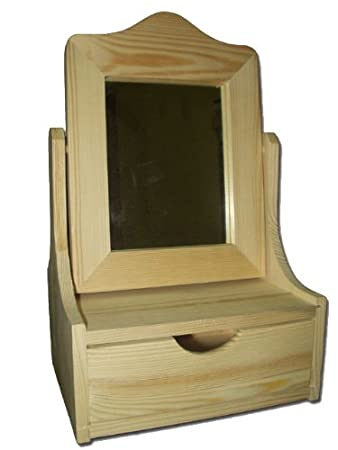 New Plain Large Wooden Jewellery/Cosmetics Vanity With Mirror   Wooden  Dressing Table