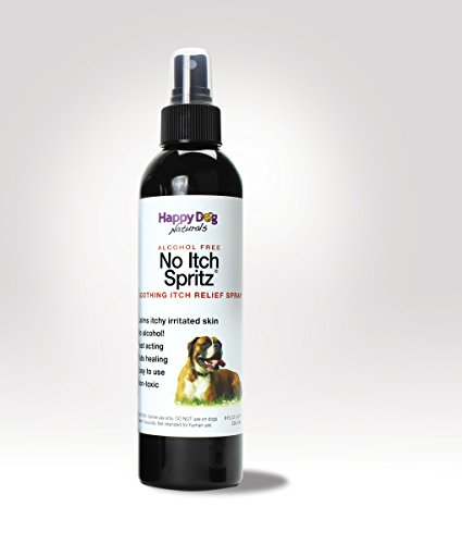 No Itch Spritz - All Natural Itch Relief for Dogs - Alcohol Free by Happy Dog Naturals