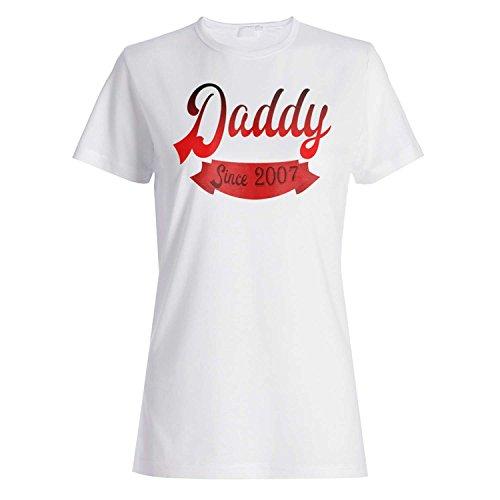 Daddy seit 2007 Vati-Vater-lustige Neuheit Damen T-shirt ii96f