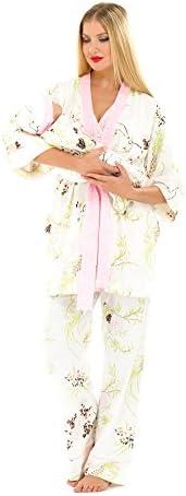 Olian 5-Piece Nursing PJ Set with Baby Outfit