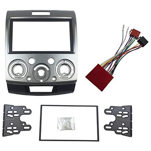 TOOGOO Radio Stereo Panel for Ford Everest Ranger Mazda Bt-50 Bt50 Double 2 Din Fascia Dash Installation Trim Kit Face Plate Bezel(178x102Mm) ()
