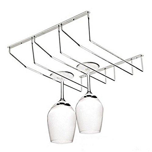 Under Cabinet Storage Organizer Iron Wine cup holder Stemware Racks Wall Mount , Wine cellar TMS , Suction cup holder wine glass