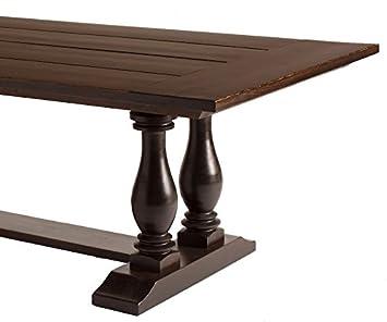 Amazoncom Double Pedestal Trestle Solid Wood Dining Table X - Double pedestal trestle dining table