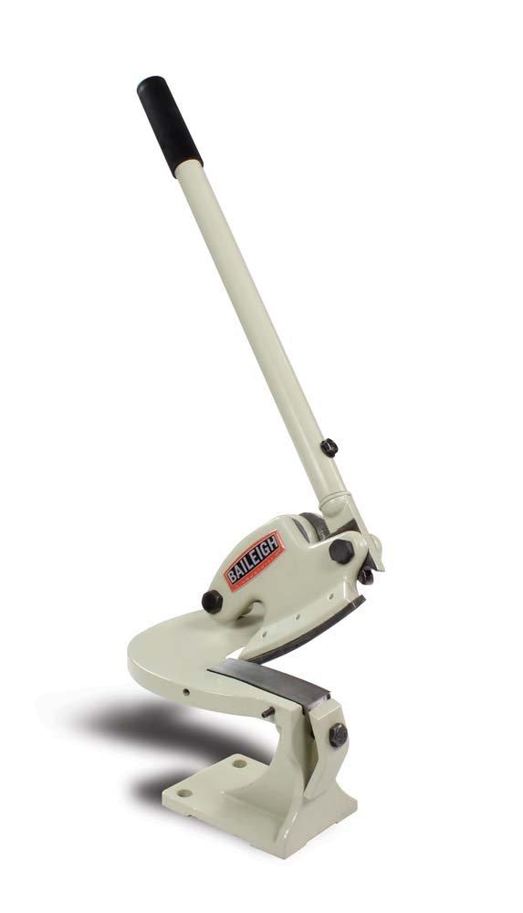 0.08 Capacity Baileigh MPS-1 Throatless Manual Shear 4-1//4 Blade Length