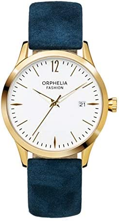 Orphelia Fashion Womens Analogue Classic Quartz Watch Suede Leather