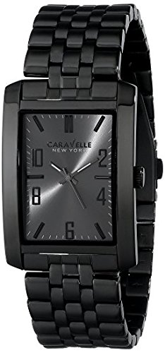 Caravelle New York by Bulova Men's 45A117 Analog Display Japanese Quartz Black Watch