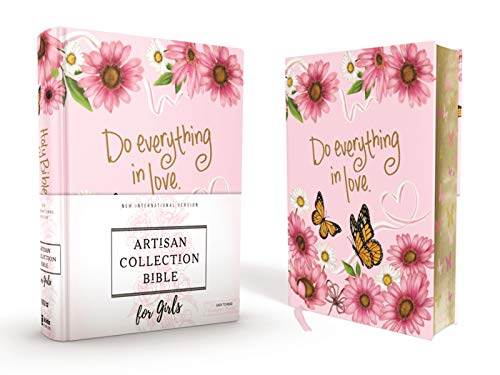 NIV, Artisan Collection Bible for Girls, Cloth over Board, Pink Daisies, Designed Edges under Gilding, Red Letter Edition, Comfort Print]()