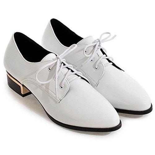 Shoes Women's Up White Lace TAOFFEN dtvCnqxTC