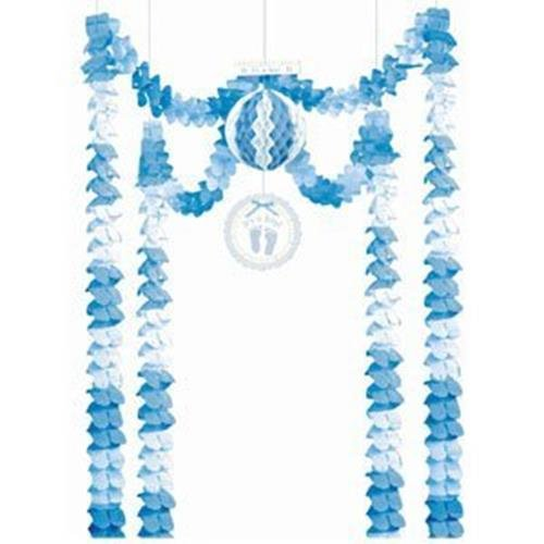 Amscan International Baby Soft Blue All-in-one Party Decoration 249815