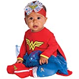 Rubies DC Comics Baby Wonder Woman Onesie and Headpiece, Red, 6-12 Months
