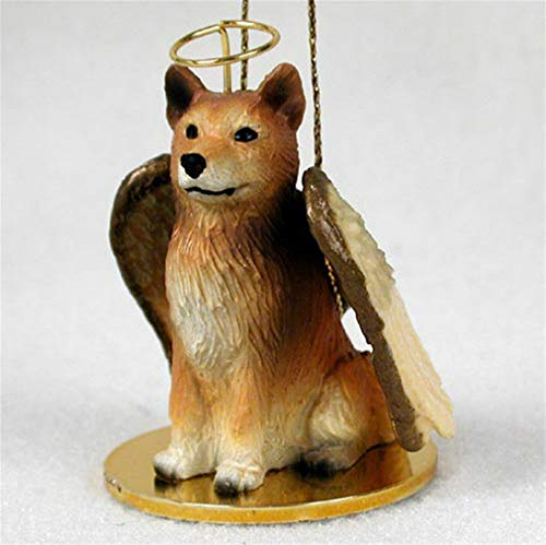 Ky & Co YesKela Finnish Spitz Ornament Angel Figurine Hand Painted