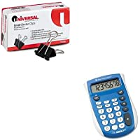 KITTEXTI503SVUNV10200 - Value Kit - Texas Instruments TI-503SV Pocket Calculator (TEXTI503SV) and Universal Small Binder Clips (UNV10200)