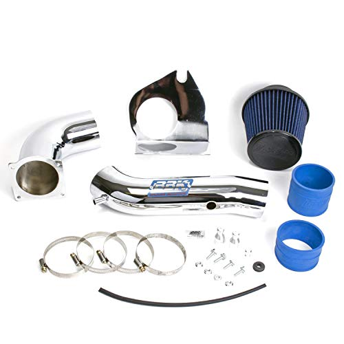 - BBK 1719 Cold Air Intake System - Power Plus Series Performance Kit for Ford Mustang 3.8L V6 - Fenderwell Style - Chrome Finish