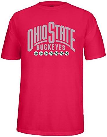 Small NCAA Adult Ohio State Buckeyes Wordmark Choice Tee Oxford