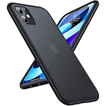 """TORRAS Shockproof Appropriate for iPhone 11 Case, [6FT Military Grade Drop Protection] Translucent Laborious Again with Silicone Bumper, Slim Non-Slip iPhone 11 Telephone Case (6.1""""), Frost Black"""