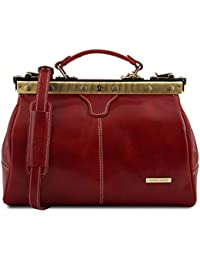 Michelangelo Doctor gladstone leather bag Red